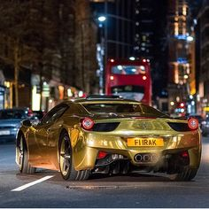#Ferrari Ferrari 458 Spider, #Ferrari458 #LaFerrari #FerrariSpA Luxury vehicle, Gold, Grey - Follow #extremegentleman for more pics like this!