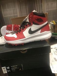 huge selection of 3a84b 706c8  Men  Shoes Nike Air Jordan Retro 1 Men s Golf Shoes White Black