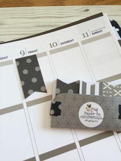 Handmade Designer Page Flags / Planner / Erin Condren / Target Dollar Spot Inspired / ECLP / Filofax / Midori / Journal by PugPaperCo on Etsy https://www.etsy.com/listing/265317611/handmade-designer-page-flags-planner