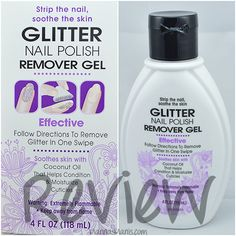 Have you been avoiding glitter nail polish because you hate the removal process? Check out my review of Vi-Jon Glitter Nail Polish Remover. Hope this is ok to post here! #nails #nailpolish