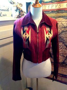 Rare 1930'S CHIMAYO Blanket Jacket in by VintageBettie1940 on Etsy
