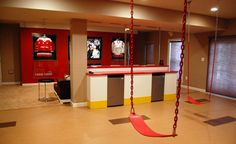 swing indoors.  awesome for a basement play area