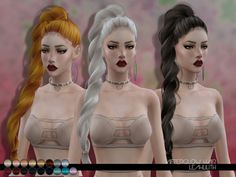 Sims 4 CC's - The Best: LeahLillith Afterglow Hair