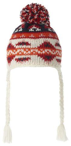 Mütze Lyn    Noppies Mädchen-Strickmütze Lyn mit Bommel und Quasten, die gebunden werden können. Die Mütze hat ein Norwegermuster und ist in verschiedenen Farben gewebt. Sie passt perfekt zu Schal und Fäustlingen derselben Serie.    Material: 100% Acrylic...