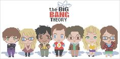#290 BOGO FREE! Leonard Penny Sheldon Raj Howard Amy Bernadette The Big Bang Theory characters cross stitch pattern pdf instant download For your consideration is a beautiful counted cross stitch pattern/chart as shown in the picture. Pattern Details: This pattern is in PDF format