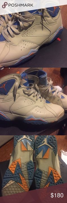 Pacific blue 7's (authentic) Retro 7's authentic, used good condition Shoes