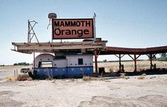Fast Eddie's Mammoth Orange juice stand was on the west side of Highway 99 near Fairmead, between Madera and Chowchilla, California. Torn down in the mid 1990's