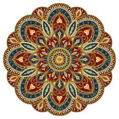 Mandala: Ornate, eastern mandala with golden contour. Vector, round, colorful ornament isolated on a white background.
