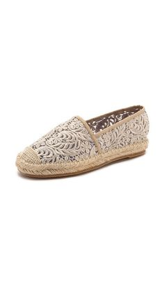 Jeffrey Campbell Nia Lace Espadrilles- pretty with embroidered lace