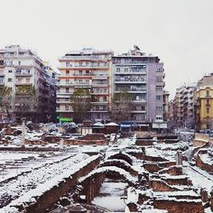 Frosty #Thessaloniki as captured by Thessaloniki's Instagrammers. Want to get featured ? Use #visitthessaloniki and tag… Thessaloniki, Winter Day, Macedonia, Cosmopolitan, Times Square, Greece, Places To Visit, How To Get, Earth
