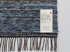 Nudie Jeans has launched a capsule collection of camper seats and braided rugs made from 2,700 pairs of donated jeans.