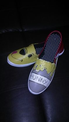 Custom hand painted Winnie The Pooh shoes