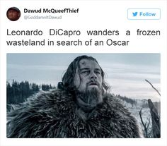 Post with 3678 votes and 130647 views. Shared by How to properly describe a movie Stupid Funny, Funny Cute, Really Funny, Hilarious, Movie Memes, Funny Movies, Movie Quotes, Leonardo Dicaprio, Movie Plots Explained Badly