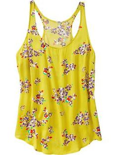Old Navy: Floral-Print Racerback Tank.  On it's way to my door!  Great colors and a racerback is always fun!