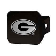 University of Georgia Bulldogs Brushed Silver with Chrome G and Color Emblem Trailer Hitch Cover Fits 2 Inch Auto Car Truck Receiver with NCAA College Sports Logo