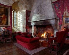 The common room at Gryffindor tower