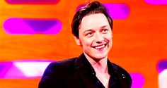 Animated GIF: NO! This whole entire thing James McAvoy is doing with his face (and also, just, his face. All of his face.): YES!