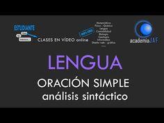 ORACIÓN SIMPLE. Análisis sintáctico en 10 pasos - Lengua española sintaxis - academia JAF - YouTube