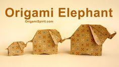 Aprende a hacer un elefante en origami