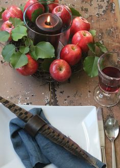 Easy Apple Wreath Centerpiece | Family Chic by Camilla Fabbri ©2009-2015. All rights reserved. The blog