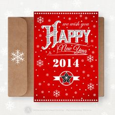 Printable Happy New Year Card 2014 INSTANT DOWNLOAD by AmeliyCom, $5.00 Printable Happy New Year Card Greeting Cards, Printable Christmas Card, NSTANT DOWNLOAD Holiday Cards, Unigue Christmas Cards, Christmas Postcard Template, Retro Christmas Card Set, Blank Christmas Cards Printable ------------------------------------------------------------------------------------------------ Red or Teal Christmas Card №5 Redy to print ♥ DIY for home printing ♥ Do It Yourself ♥ Printable Christmas Card