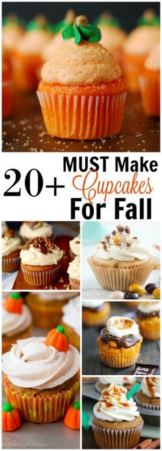 20+ Must Make Fall Cupcake Recipes! All the pumpkin, maple, apple and pecan you can handle!