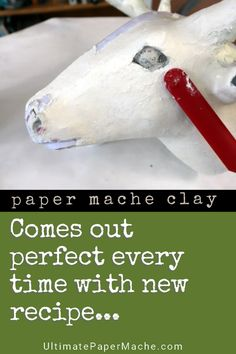 If you love paper mache clay but it doesn't come out right every time, your kitchen scale is the answer. Use gram measurements for perfect paper mache clay. Paper Mache Paste, Paper Mache Clay, Paper Mache Sculpture, Cardboard Sculpture, Paper Sculptures, Diy Paper, Paper Art, Paper Crafts, Paper Mache Crafts For Kids