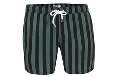 "£22. [link url=""http://www.topman.com/en/tmuk/product/clothing-140502/mens-shorts-swimshorts-5631219/green-and-black-stripe-swim-shorts-6187024?bi=0&ps=20""]topman.com[/link]"
