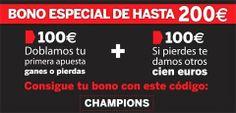 Promocion bienvenida 200 euros con motivo de las competiciones europeas