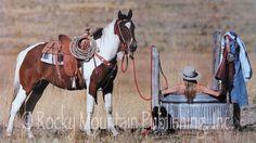 cowgirl in bath water trough | Rocky Mountain Publishing: Wall Art publisher
