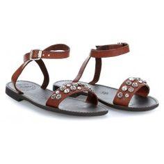 wardow.com - #Campomaggi #shoe #sandal #clogs Sandals Schuhe fein genarbtes Rindsleder cognac
