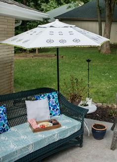 Urban Outfitters Inspired DIY Patio Umbrella