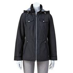 Details Hooded Rain Jacket - Women's