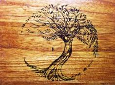 Tree of life wood burning by lilygirl04