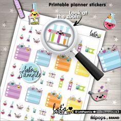 Lab Stickers, Printable Planner Stickers, Science Lab Stickers, Biology, Box Stickers, Erin Condren, Kawaii Stickers, Planner Accessories