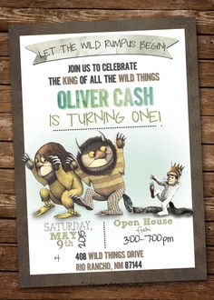 Where The Wild Things Are Invitation by elenasshop on Etsy