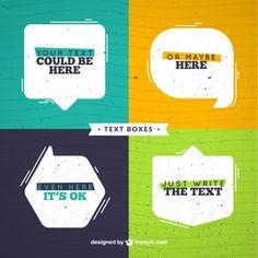 Flat speech bubbles set with text