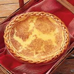 Old-Fashioned Custard Pie...This brings back such fond memories of my grandma. She ALWAYS had this at family dinners.