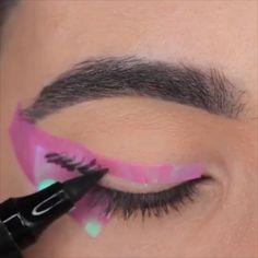 Droopy Eye Makeup, Makeup For Hooded Eyelids, Hooded Eye Makeup Tutorial, Glitter Makeup Tutorial, Eye Makeup Steps, Mauve Makeup, Makeup Vs No Makeup, No Eyeliner Makeup, Eyeliner Hacks