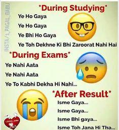 Hindi Jokes Funny Jokes In Hindi Hindi Chutkule funny student Jokes funny sch. - Hindi Jokes Funny Jokes In Hindi Hindi Chutkule funny student Jokes funny school jokes exam joke - Exam Quotes Funny, Exams Funny, Best Friend Quotes Funny, Cute Funny Quotes, Jokes Quotes, Fun Quotes, Quotes Friday, Star Quotes, Crazy Quotes