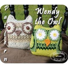 Free crochet amigurui owl, the Wendy, from Divine Debris