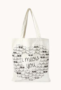 Crazy Cats Meow Tote | FOREVER21 - 1000090120