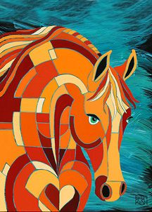 Barbara Rush equestrian art-- also owls and flowers.