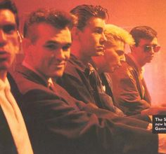 The Smiths (with Craig Gannon) backstage at The Old Grey Whistle Test (BBC2/UK) on May 20, 1986.