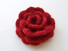 This crocheted rose is cute @Gina Scantling