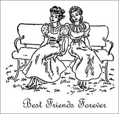 Best Friends Forever from the Betsy Tacy books by Maud Hart Lovelace. Old Cards, Children's Book Illustration, Book Illustrations, Book Lovers Gifts, Best Friends Forever, Book Characters, Best Memories, Vintage Books, Friendship Quotes