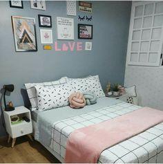 Cute Bedroom Decor, Art Deco Bedroom, Stylish Bedroom, Small Room Bedroom, Cute Room Ideas, Small Room Design, Grey Room, Aesthetic Bedroom, Awesome Bedrooms