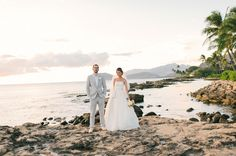 Modern + Vintage Oahu Wedding at Lanikuhonua  Read more - http://www.stylemepretty.com/destination-weddings/2014/01/28/modern-vintage-oahu-wedding-at-lanikuhonua/