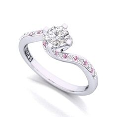 White and Pink Diamond Ring