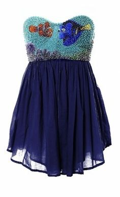Finding Nemo, one of my favorite Disney movies, in dress form?!? There's something fishy this though...    PUNS.